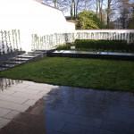 Aménagement d'un jardin avec pose de dalles de gazon