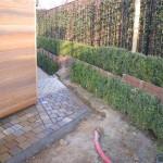 Dallage, drainage, plantation, pose des câbles pour l'éclairage du jardin