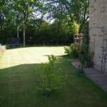 Aménagement d'un jardin en cours