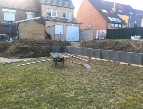 Retenue de terre en béton